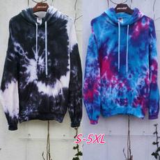 Plus Size, hooded, Sleeve, tyedye