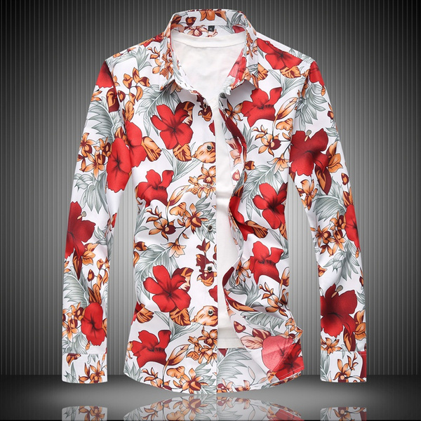 Fashion, Slim Fit, Shirt, Hawaiian