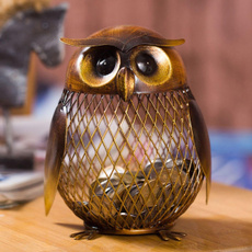 metalsculpture, Owl, art, Decoración de hogar