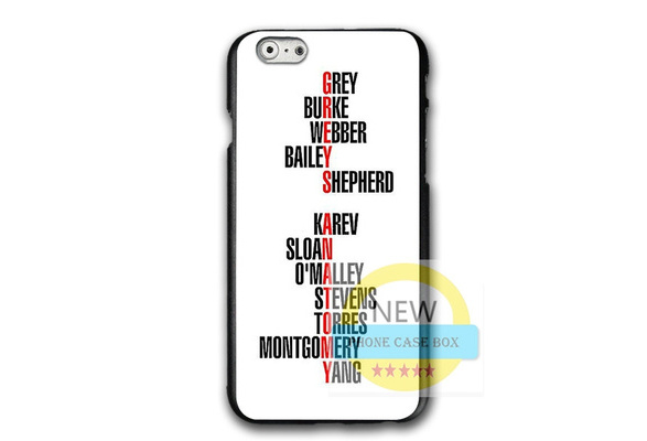 Personalized Greys Anatomy Phone Case For Iphone 6 6s 7 7plus For Iphone XR Samsung Huawei Hard Plastic Phone Protective Case