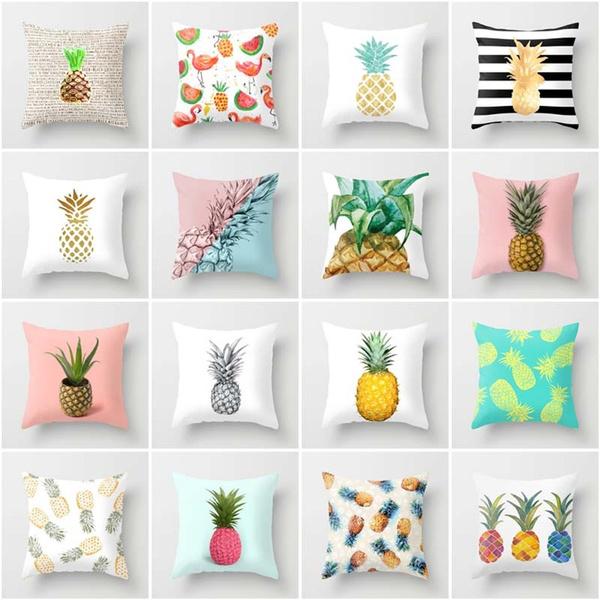pineappleprint, art, Home Decor, squarepillow