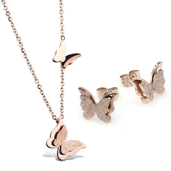 butterfly, Steel, Stainless Steel, Jewelry