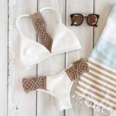 bathing suit, Fashion, Triangles, Padded Bikini Top