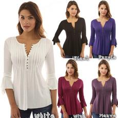 highjwaist, blouse, printingtop, women top