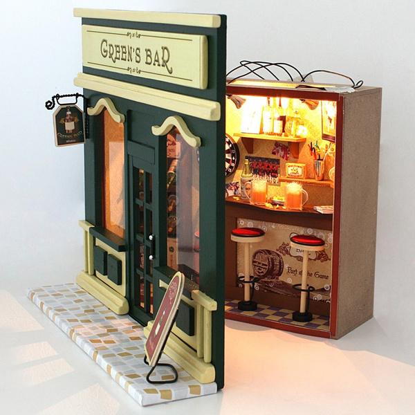 led, doll, Dollhouse, buildingblock