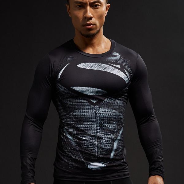Plus Size, runningshirt, Long Sleeve, Men