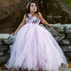 pink, girlflowerdres, pinkgirldres, tulle