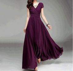 bohemia, Summer, short sleeve dress, solidcolorchiffondres