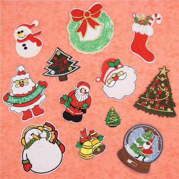 snowman, Christmas, Santa Claus, Sewing