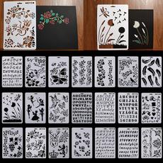 lettering, paintingtemplate, stencil, Scrapbooking