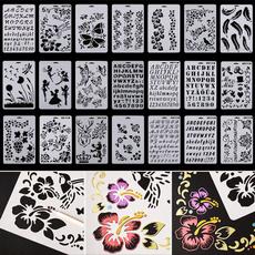 album, stencil, Scrapbooking, alphabet