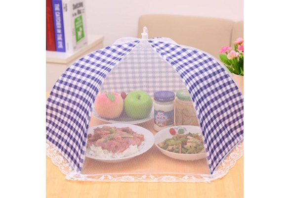 Kitchen Food Dish Cover Folded Umbrella Tent Anti Fly Mosquito Table Mesh Net