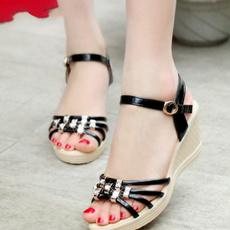 Summer, Sandals, Fashion, wedge