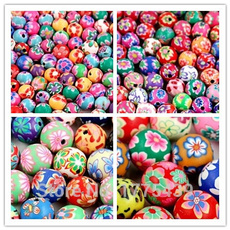 polymer, Flowers, beadsforbracelet, Bead