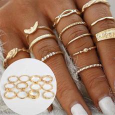 bohoring, DIAMOND, Women Ring, gold