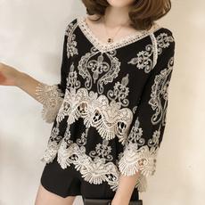 Deep V-Neck, blouse, Plus Size, Tops & Blouses