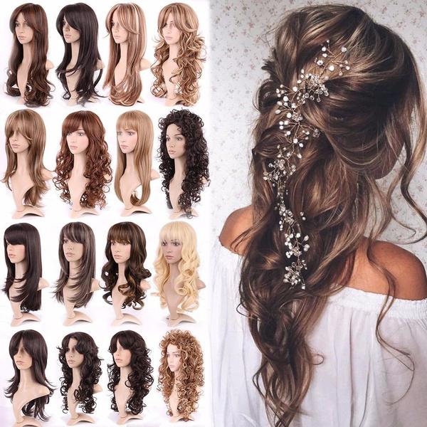 wig, brown, Fashion, human hair