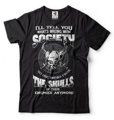vikingsfunnytshirt, Fashion, Shirt, skull