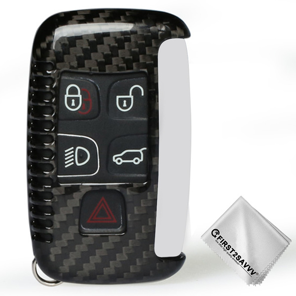 X AUTOHAUX Silicone Carbon Fiber Pattern Car Key Fob Cover Keyless Remote Key Soft Case Protector with Keychain for VW Polo MK6 Tiguan Skoda Kodiaq