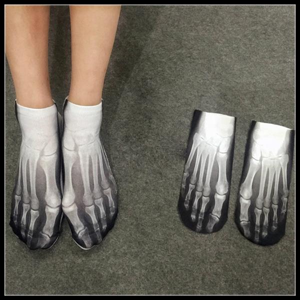 cute, bonesock, Cotton Socks, Cotton