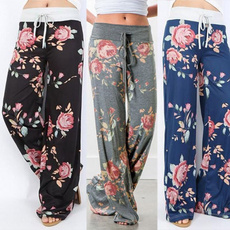drawstringpant, SweatpantsWomen, Floral print, Waist