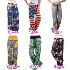 Women Pants, trousers, Floral print, Waist