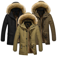 Casual Jackets, hooded, fur, Winter