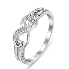 Sterling, DIAMOND, 925 sterling silver, wedding ring