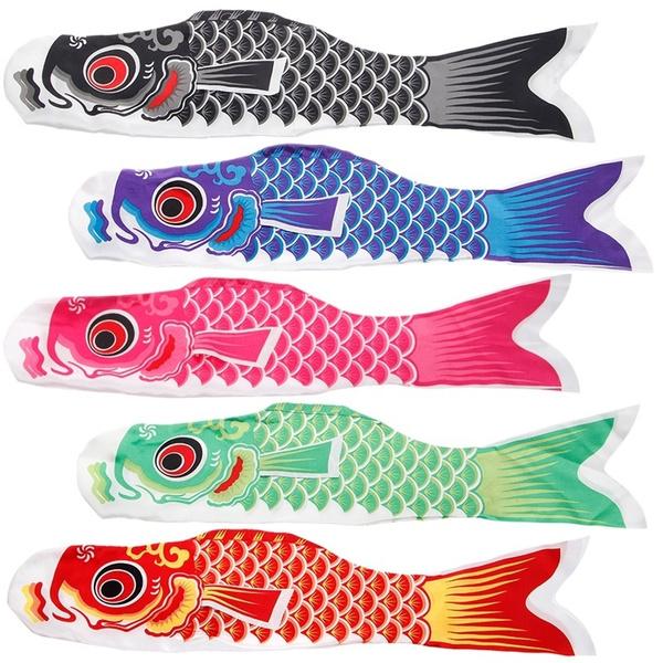 Decor, Colorful, animefishflag, flyingflag