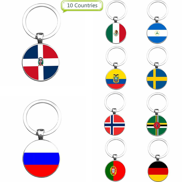 Pendant, nationalflag, Key Chain, dominican