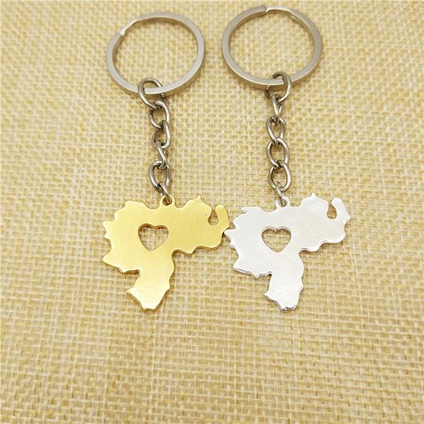 Map, Key Chain, Jewelry, gold