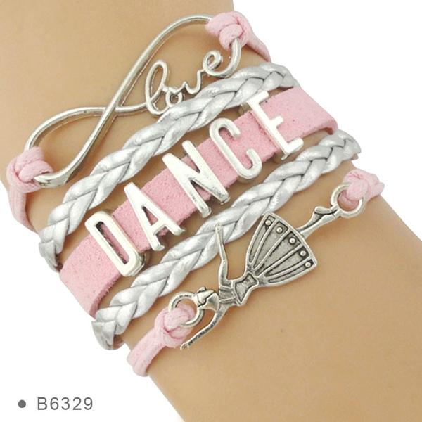 infinity bracelet, Gray, Ballet, dancebracelet
