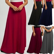 long skirt, Plus Size, high waist, Dress