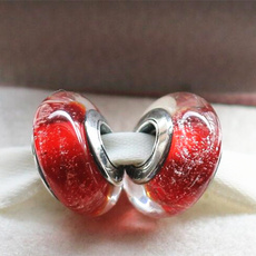 Sterling, Jewelry, Glass, Bracelet