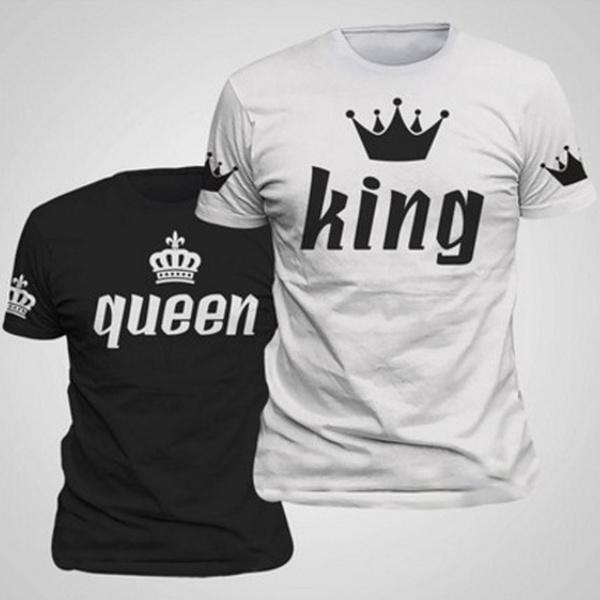 King, Shorts, Shirt, letter print