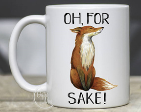 ohforfoxsakemug, Coffee, foxquotemug, Gifts