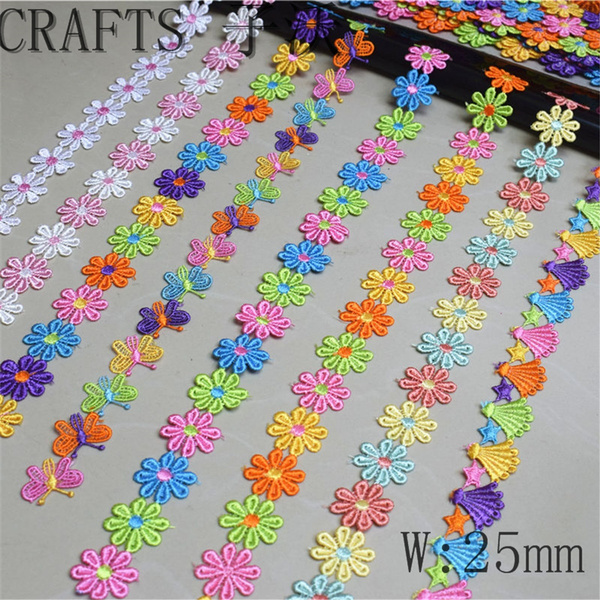 lace trim, Polyester, embroiderylace, Lace