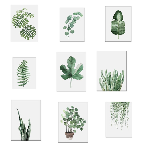 21x30cm 1pc Watercolor Tropical Plant Leaves Canvas Art Print Poster Nordic Green Plant Leaf Rural Wall Pictures For Home Decoration New Wish Steve's leaves currently has over 100 different & beautiful tropical plant varieties available. 21x30cm 1pc watercolor tropical plant leaves canvas art print poster nordic green plant leaf rural wall pictures for home decoration new wish