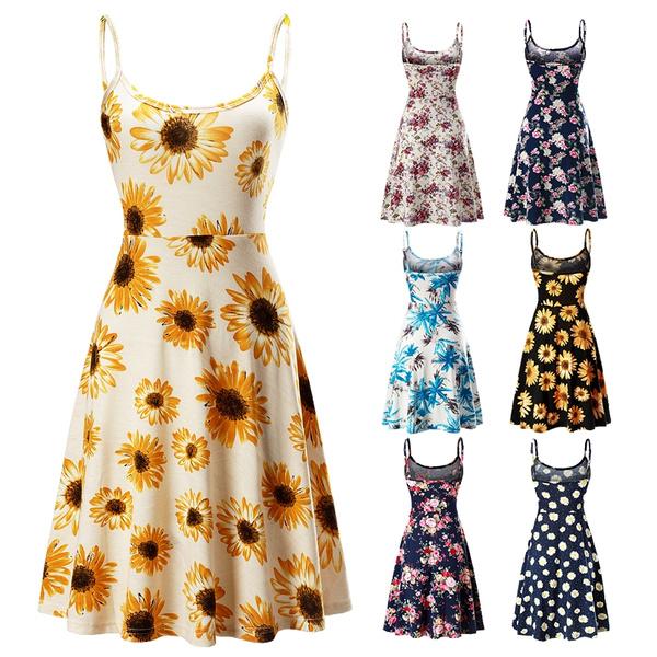 Swing dress, strapless, Summer, Dresses