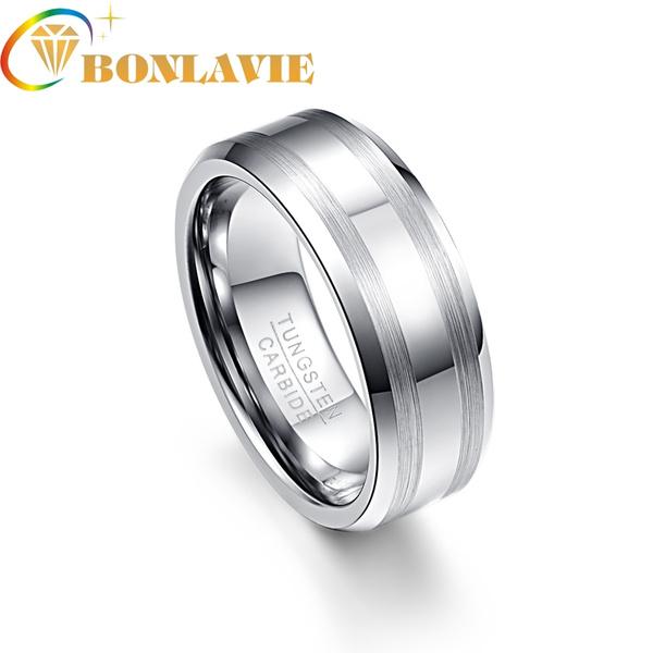 ringsformen, tungstenring, 8MM, wedding ring