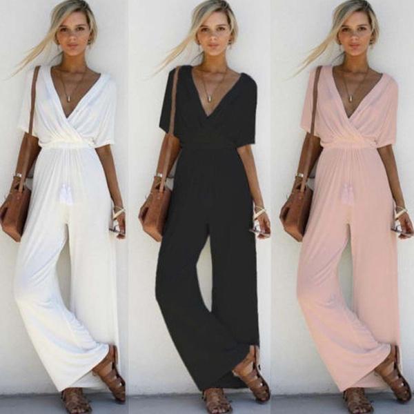 bodycon jumpsuits, Summer, Fashion, women beachwear