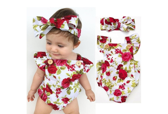 DuAnyozu Infant Baby Girls Clothes Cute Flower Jumpsuit Romper Long Sleeve One-Piece Outfit with Hat Fall Winter Clothing