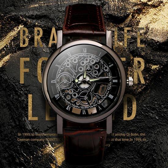 dial, Fashion, Skeleton, steel watch