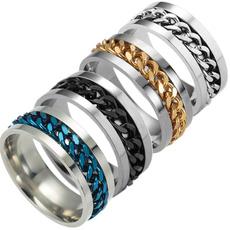 Steel, fidgetspinner, wedding ring, Stainless steel ring