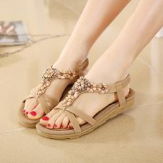 bohemia, Summer, Sandals, Flats