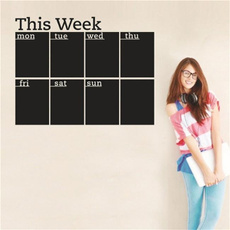 week, planner, Office, Wall Design Stickers