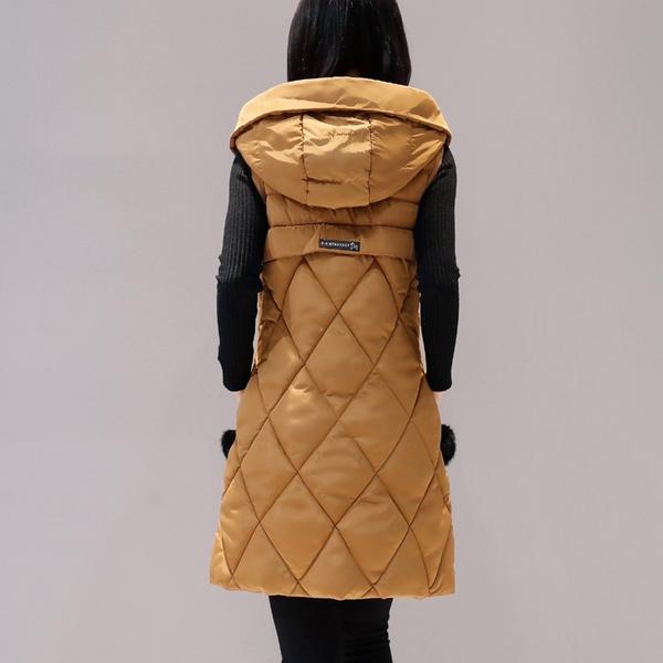 womencoatwinterwarm, Vest, womenfurwaistcoat, Winter