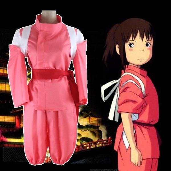 Anime Spirited Away Cosplay Costumes Chihiro Ogino Cosplay Costume Uniforms Halloween Party Sen To Chihiro No Kamikakushi Women Wish