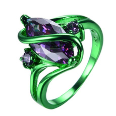 Women, wedding ring, gold, purple
