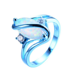 Blues, Fashion Jewelry, 925 sterling silver, wedding ring